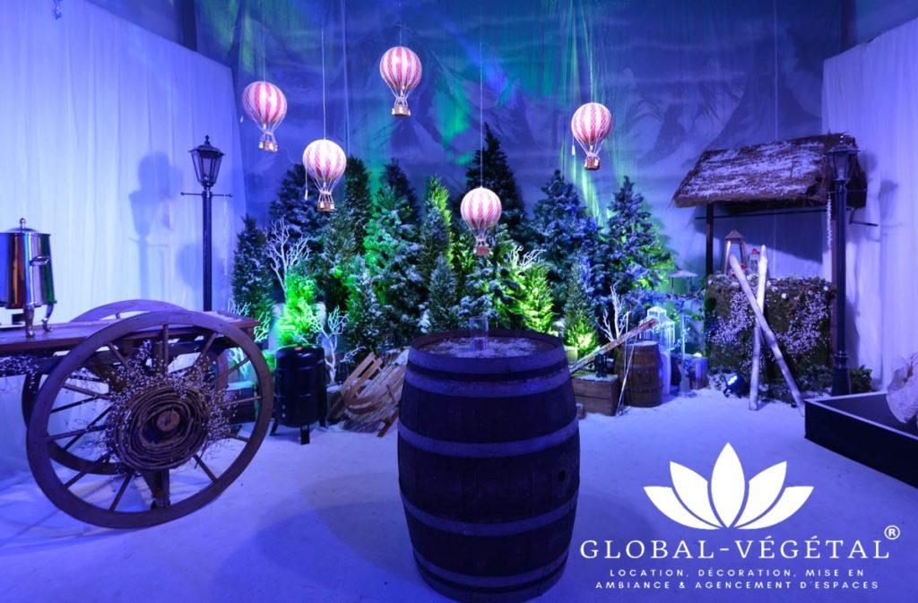 location décor de noël événementiel