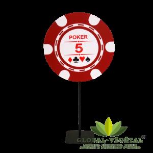 Location de jeton de poker géant sur pied