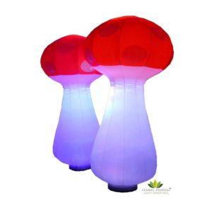 Location de champignon gonflable lumineux