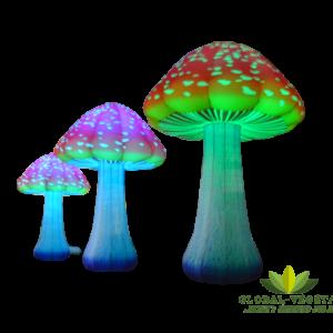 Location de champignon gonflable géant lumineux
