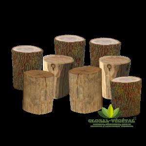 Location de siège en rondin de bois