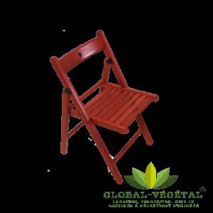 Location de chaise pliante rouge