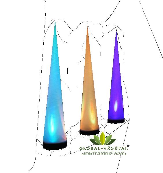 Location de cône lumineux gonflable