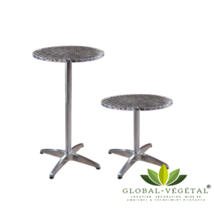 Location de table aluminium pliante