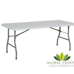 Location de table pliante blanche