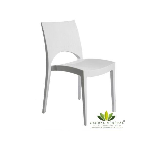 location de chaise résine blanche