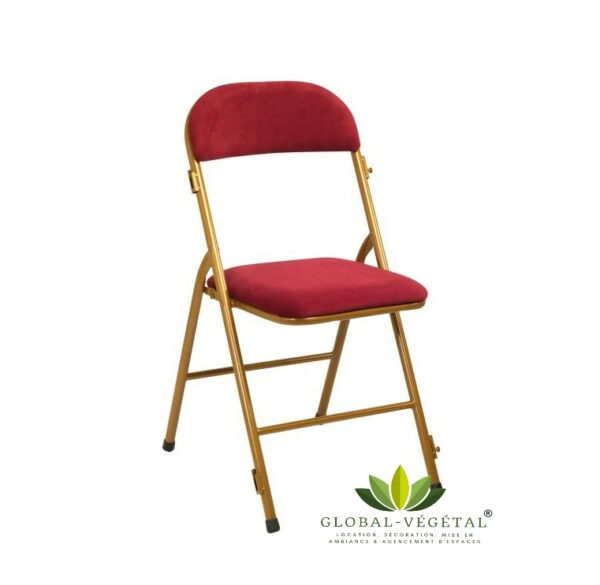 location de chaise en velours rouge pour événement