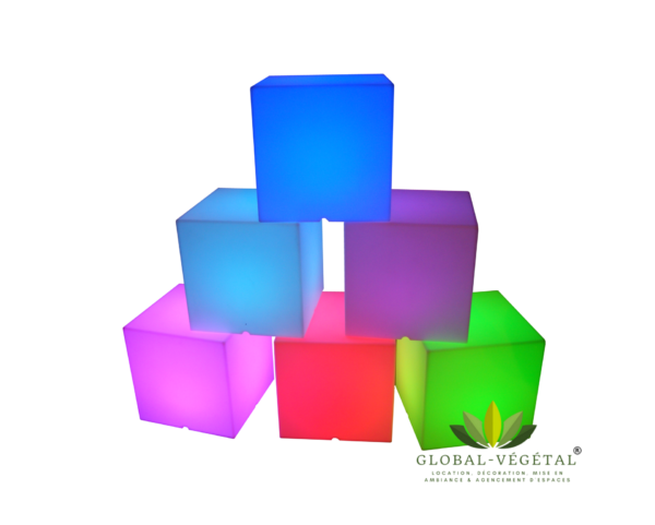 location de cube lumineux pour décoration