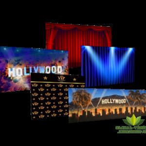 Location de toile de fond cinéma et Hollywood