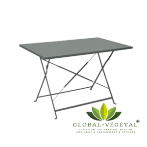 Location de table pliante en aluminium
