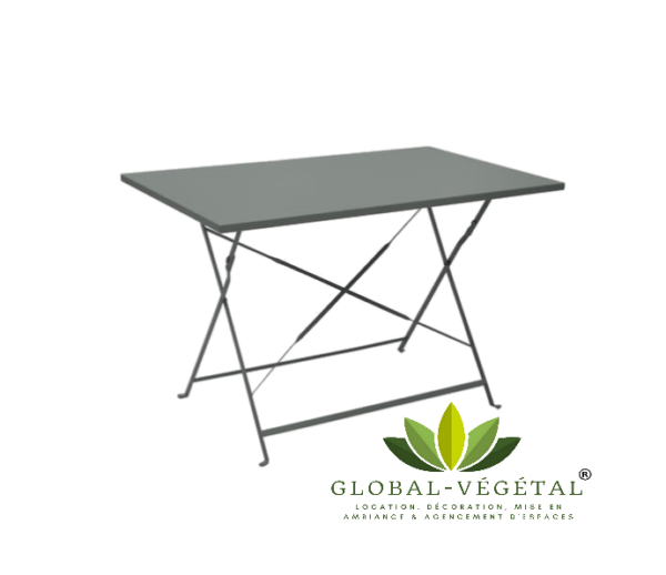 location table aluminium pliante