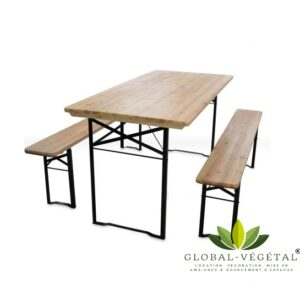 Location de table et banc en bois