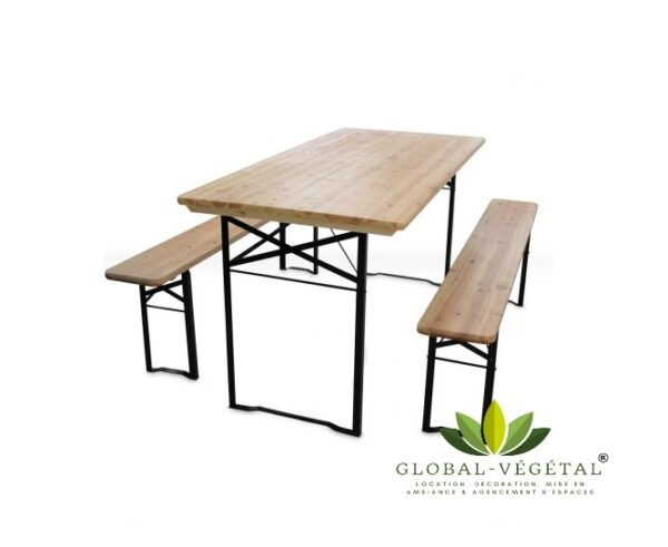location de table pliante en bois