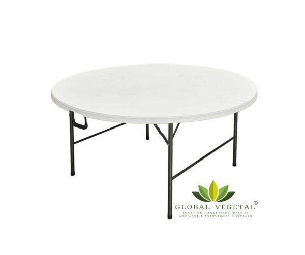 location de table ronde pliante