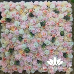 Location de mur de roses artificielles