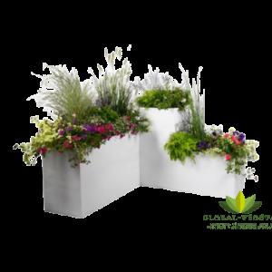 Location pack événementiel pot et jardinière blanche
