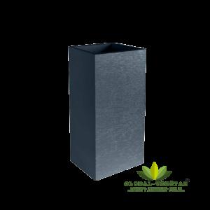 Location de pot carré anthracite hauteur 80 cm