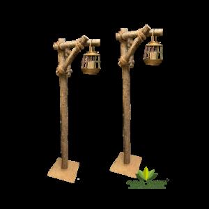 Location de support lanterne en tronc naturel