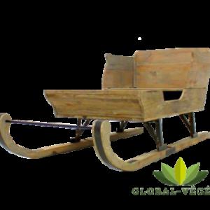 Location de traineau en bois